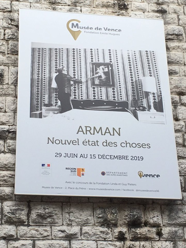 Vence - vernissage exposition arman 28062019